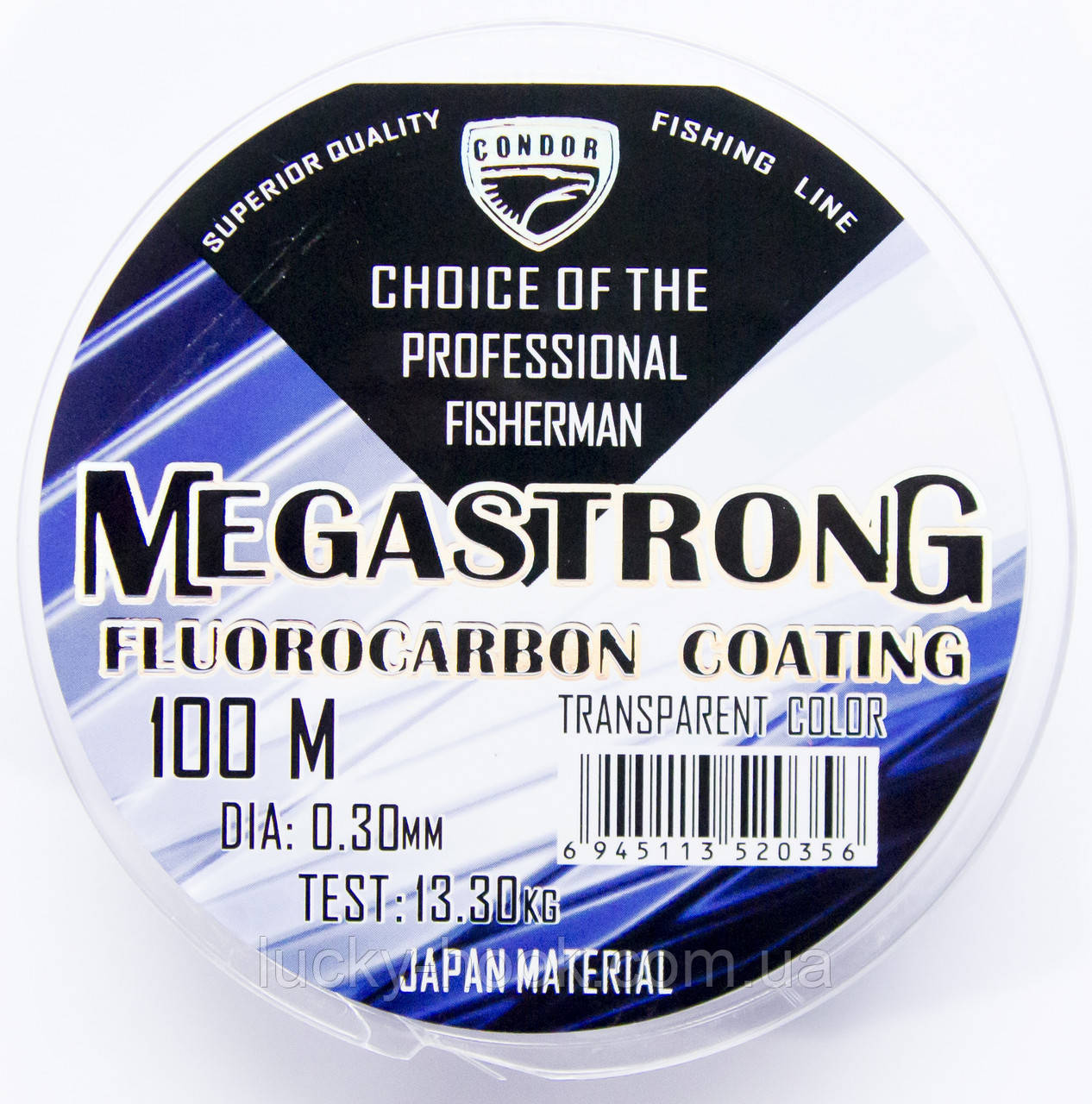 Леска Condor MegaStrong Fluorocarbon Coating 100m 0.22mm