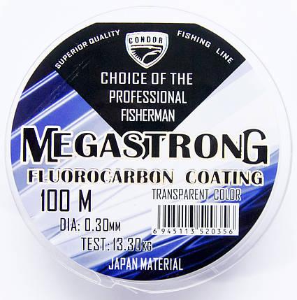 Леска Condor MegaStrong Fluorocarbon Coating 100m 0.22mm, фото 2