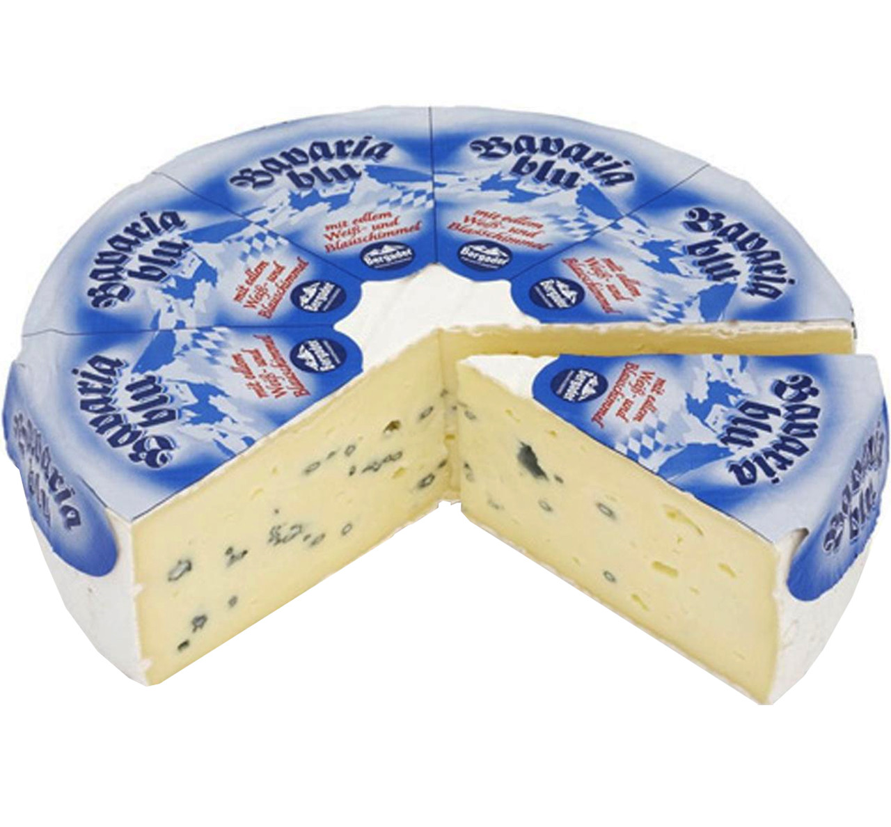 Мягкий сыр с голубой плесенью Bavaria Blu Torte (Бавария Блю) 50%, кг.