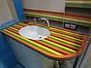 Столешницы для ванной комнаты из искусственного камня