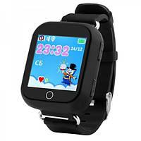 Умные детские часы с GPS трекером Smart Baby Watch Q100S / Q750 Черные (GPS+LBS+WIFI)