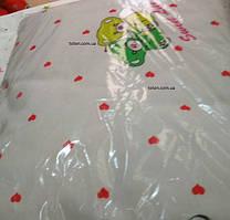 Комплект сменного постельного белья 3 в 1 байка Сердечки