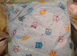 Комплект сменного постельного белья 8 в 1 Бязь Жаккард голубые совы