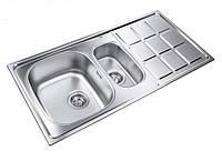 Кухонная мойка из нержавеющей стали LONGRAN LT9L 1000.500 15 GT декор