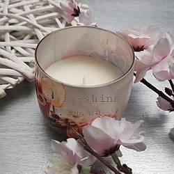 Свечка ароматизированая в стакане Apple-cinnamon яблоко корица