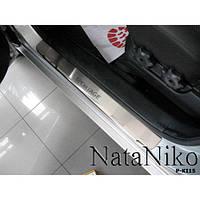 NataNiko Накладки на пороги для KIA Sportage II '04-10 (Комплект 4 шт.) Standart, фото 1