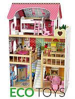 Игровой кукольный домик EcoToys резиденция Малиновая 4109