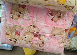 Детский постельный комплект 7 предметов Розовые мишки