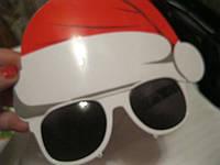 Очки дед мороз карнавальные пластик новый год колпак праздник рождество