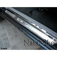 NataNiko Накладки на пороги для MITSUBISHI L200 IV '06-15 (Комплект 2 шт.) Premium, фото 1