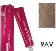 Соколор Бьюти, стойкая крем-краска для волос, оттенок 9av, 90 мл