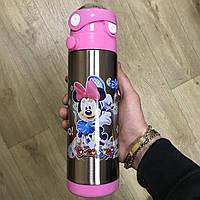 Термос детский с трубочкой Герои Дисней Disney Минни Маус термокружка для детей, фото 1