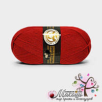 Зимняя пряжа Madame Tricote Paris Мерино голд, №033, красный