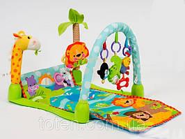 """Развивающий коврик для младенцев """"Умный малыш"""" или """"Тропический лес"""" артикул 7181"""