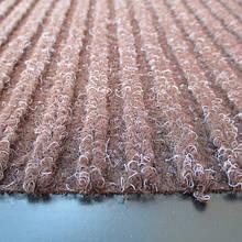 Грязезащитный коврик полипропиленовый на основе пвх коричневый,strip 90x120-brown