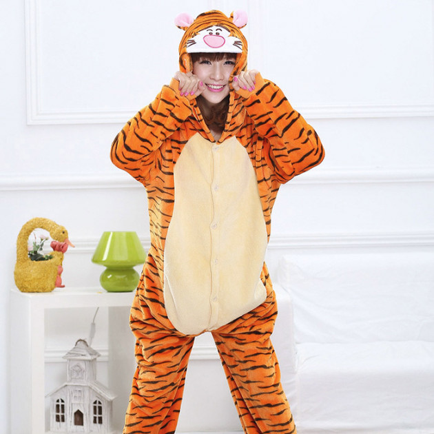 Пижама кигуруми Взрослые и Детские Тигр