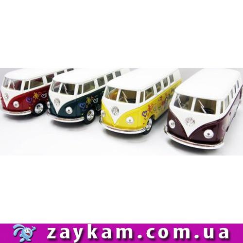 Модель автобус 5 KT5060FW VOLKSWAGEN CLASSICAL BUS 1962 метал.инерц.1:38 кор.96