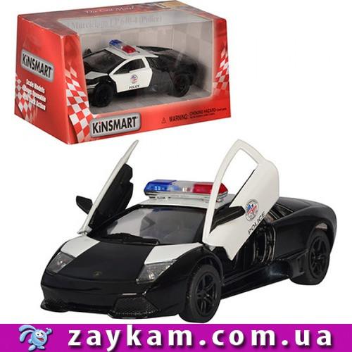 """Машина метал. """"Kinsmart"""" KT5317WP """"Поліція"""" Lamborghini LP640 в коробке16*8, 5*7, 5cm"""