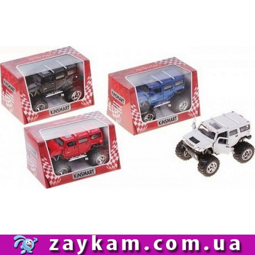Машинка метал KINSMART KT 5337 WB інер-я, 1:40 HUMMER H2 SUV 2008 OFF ROAD, в коробці