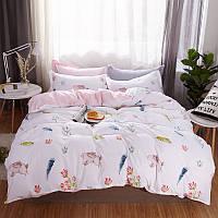 """Комплект постельного белья """"Зайчонок"""" (двуспальный-евро), фото 1"""