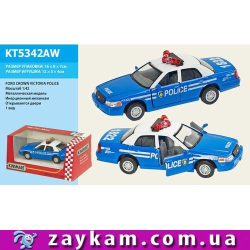 Машина метал KINSMART KT5342AW 96шт4 FORD CROWN VICTORIA POLICE, в коробці 1687,5 см