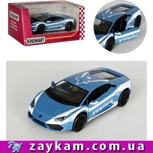 """Машина металл """"KINSMART"""" KT5382WP """"Lamborghini Huracan LP610-4 """" в коробке 16*8, 5*7, 5с"""