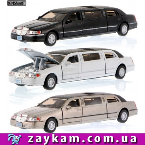"Машина метал. ""Kinsmart"" ""Lincoln Car Stretch Limousine 1999"" в коробке 18см"