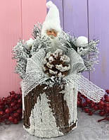 Новогодняя декорация Санта Клаус 30 см