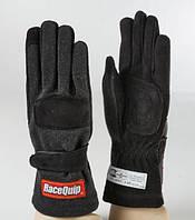 Гоночные перчатки детские RaceQuip 2-LYR SFI-5 Large Kid черные