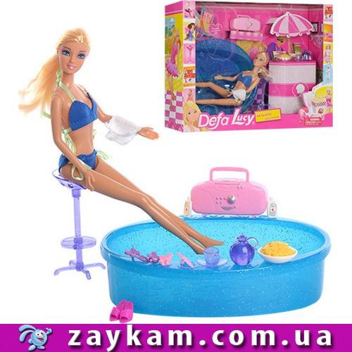 Кукла Defa, с мебелью для ванной, в коробке 41, 5*31, 5*10см