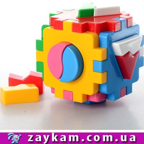 """Куб """"Розумний малюк"""" Логіка 1 12×12×12 см ТехноК 245"""