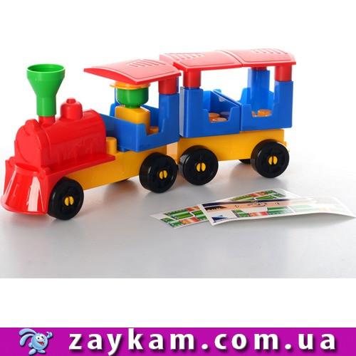 """Конструктор """"Чарівний поїзд 2"""" 25×9×5.5 см ТехноК 077"""