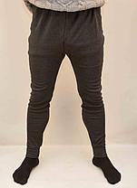 Подштанники мужские темно серые с начесом, фото 2