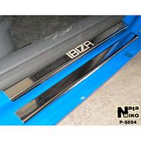 NataNiko Накладки на пороги для SEAT Ibiza III (6L) '02-08 5d хетчбек (Комплект 8 шт) Standart, фото 1