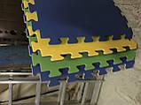 Килимок-пазл, татамі ластівчин хвіст, т. 20 мм, пінополіетилен розмір 50х50 см, щільність 50 кг/м3, TERMOIZOL®, фото 4