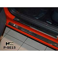 NataNiko Накладки на пороги для SEAT Leon III '12- (Комплект 8 шт.) Standart, фото 1