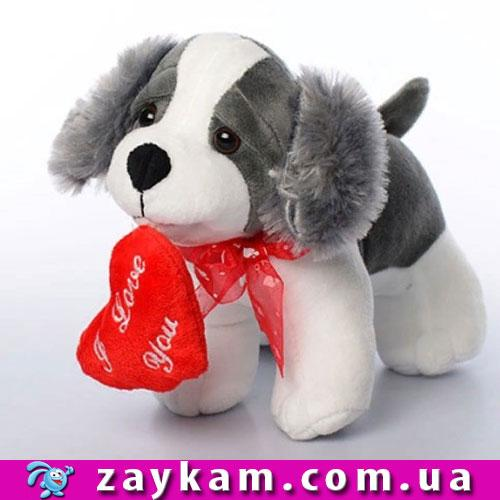 Мягкая игрушка MP 1387 собачка, размер средний+, звук, на бат-ке, 25см