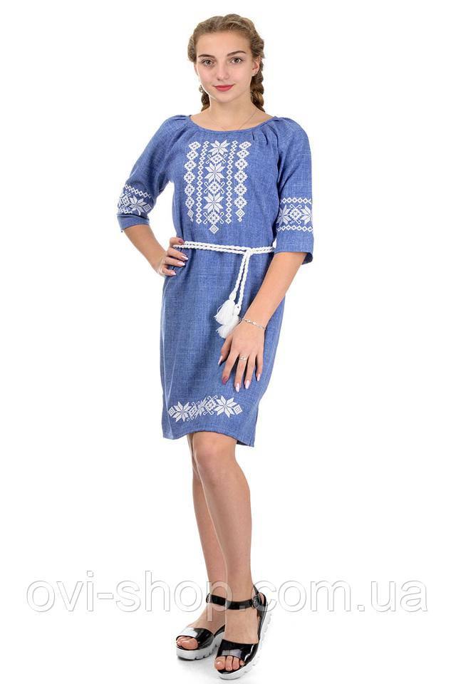 женская вышиванка платье