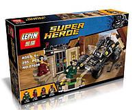 Конструктор Lepin 07039 Супергерои Спасение от Ра'с аль Гула (аналог Lego Super Heroes 76056)