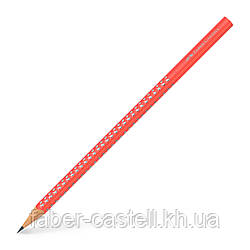 Карандаш чернографитный Faber-Castell Grip Sparkle коралловый корпус, 118216