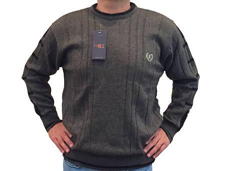Мужской теплый свитер № 1205 коричневый, фото 2