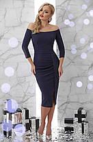Красивое синее вечернее платье Размеры S M XL, фото 3