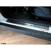 NataNiko Накладки на пороги для SUBARU Forester III (SH) '08-12 (Комплект 4 шт.) Standart, фото 1