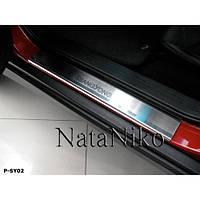 NataNiko Накладки на пороги для SsangYong Kyron '07- (Комплект 4 шт.) Standart, фото 1