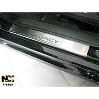 NataNiko Накладки на пороги для SUBARU Legacy V (BR/BM) '09- (Комплект 2 шт.) Standart, фото 1