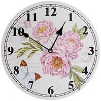 """Годинники настінні """"Ufficio Postale. Півонії"""" Ø29см"""