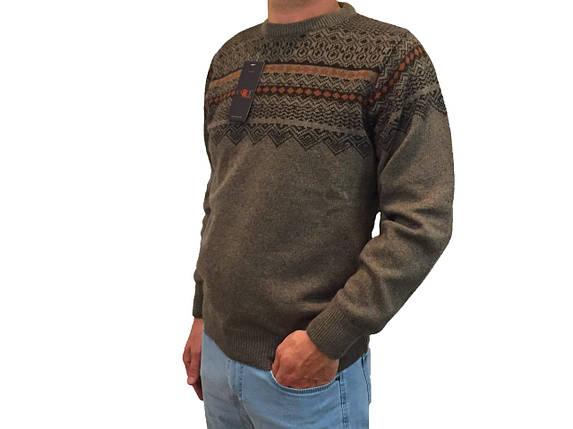 Мужской теплый свитер № 1660 коричневый, фото 2
