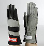 Гоночные перчатки RaceQuip 1-LYR SFI-1 X-Large черно-серые