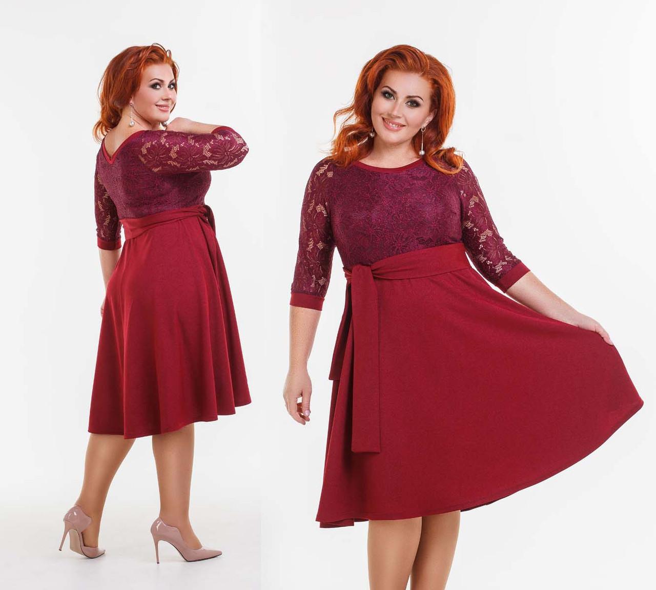 2b26c2019a376df Элегантное нарядное женское платье в больших размерах 41-147