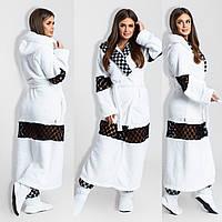 Шикарный халат с кружевами + махровые сапожки, фото 1